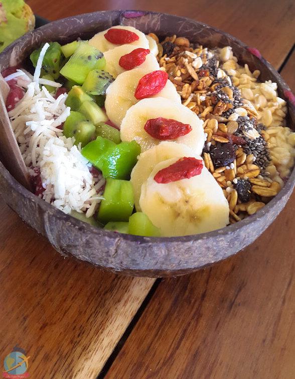 Smoothie bowl-Fresco Habito, Playa del Carmen Guia de viajes para veganos