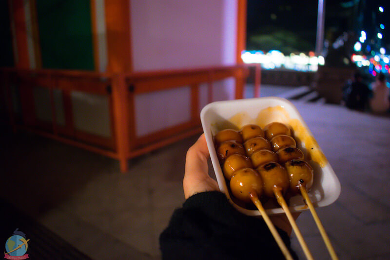 Mitarashi Dango in Kyoto