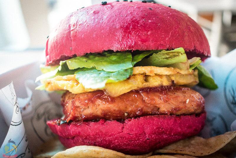 Vegan burger in Panama