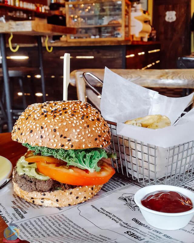 hamburguesa vegana en Panama
