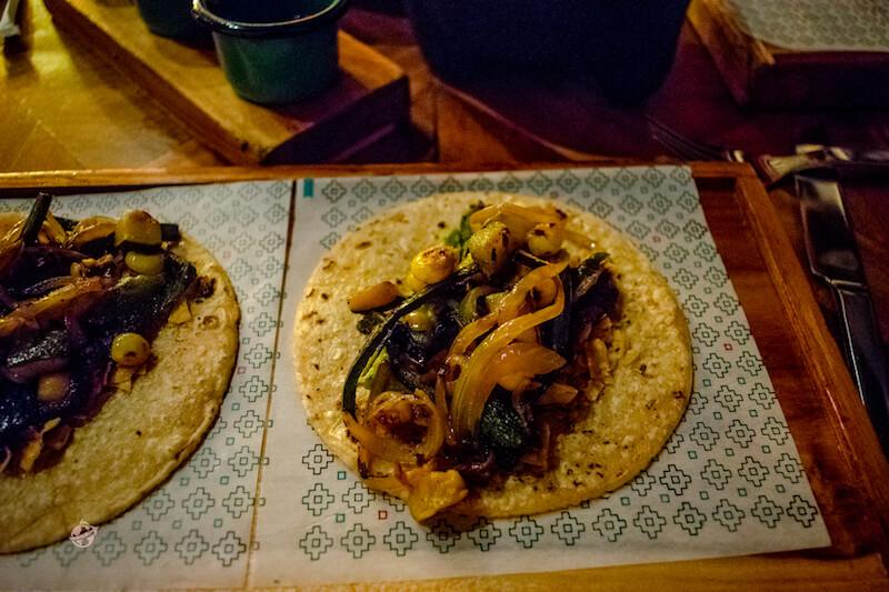 tacos veganos en Bogota