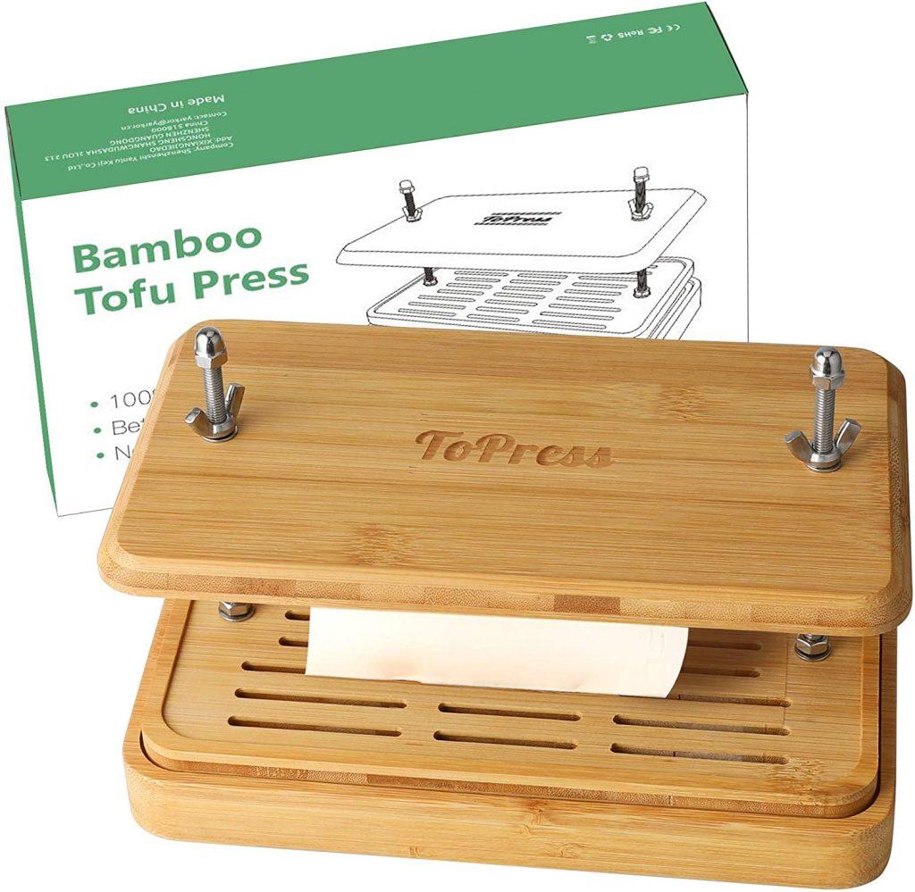 Regalos para veganos: prensa para tofu hecho a base de bambu