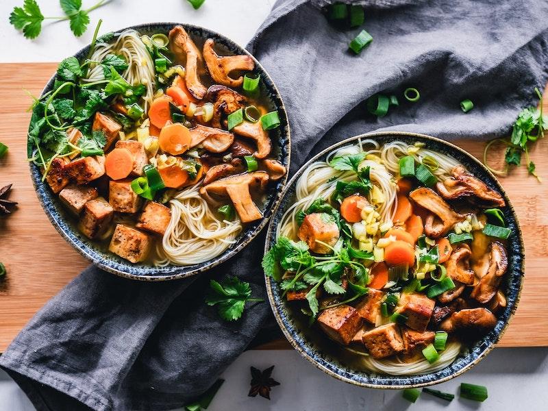 dos bowls de Ramen vegano
