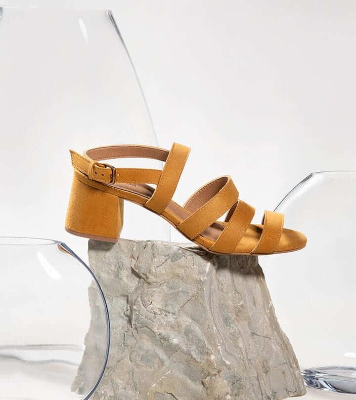 Sandalias amarillo mostaza